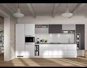 Cucina bianca design lineare Ginevra Aran