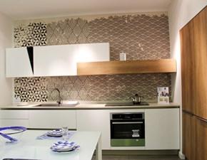 Cucina bianca design lineare Infinity Stosa cucine in Offerta Outlet