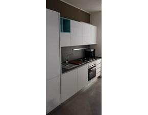Cucina bianca design lineare Mia Mobilegno cucine in Offerta Outlet