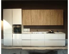 Cucina bianca design lineare Obliqua Ernestomeda in Offerta Outlet