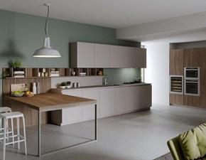 Cucina bianca design lineare Premier Dibiesse
