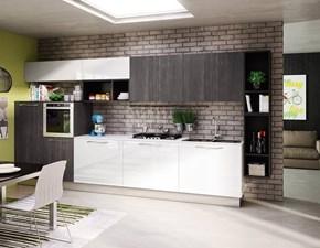 Cucina bianca design lineare Sanny Berloni cucine in Offerta Outlet