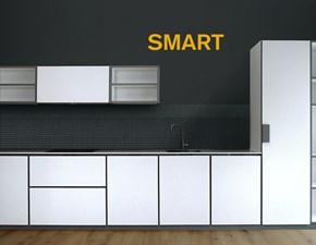 Cucina bianca design lineare Smart Artigianale