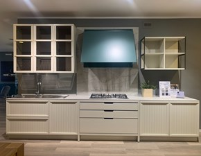 Cucina bianca design lineare Tosca Stosa in Offerta Outlet