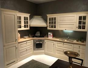 Cucina bianca inglese ad angolo Baltimora Scavolini in offerta