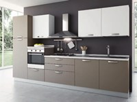Cucina bianca L.255 Imab group in Offerta Outlet