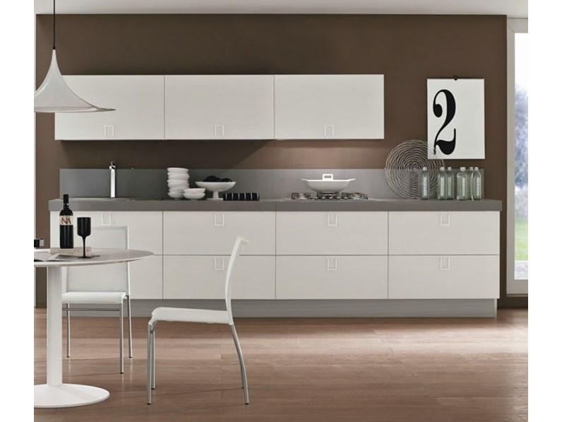 Cucina Moderna Bianca Laccata.Cucina Bianca Laccata Moderna Essential White Offerta Convenienza