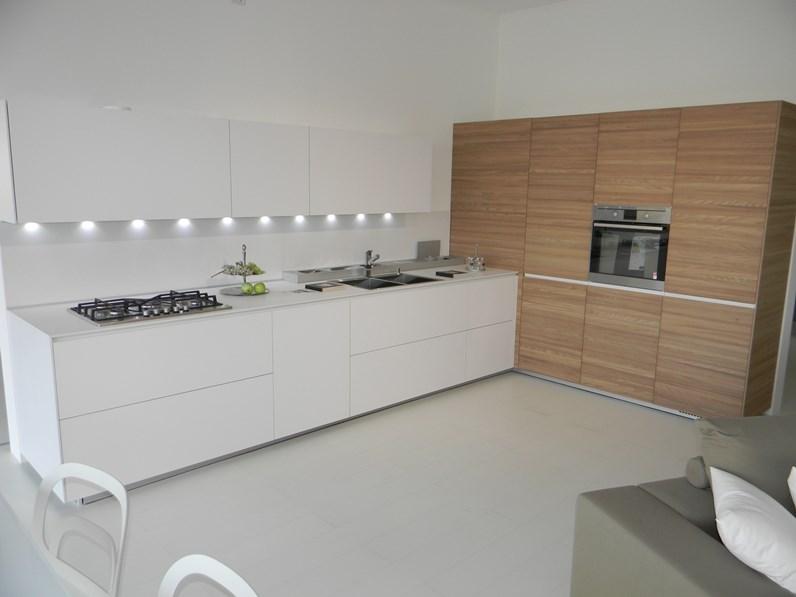 Cucina bianca moderna ad angolo artematica laminato - Cucina angolo moderna ...
