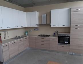 Cucina bianca moderna ad angolo Bea Arrex in Offerta Outlet