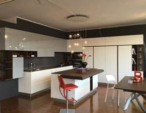 Cucina bianca moderna ad angolo Bidue k1 Artigianale in Offerta Outlet