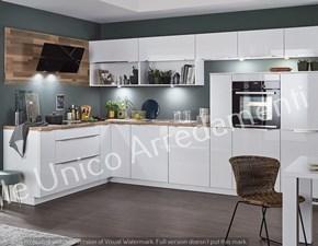 Cucina bianca moderna ad angolo Castiel Colombini casa