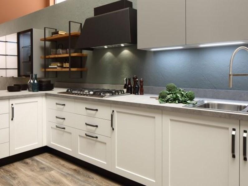 Cucina Bianca Moderna Ad Angolo Componibile Arrex