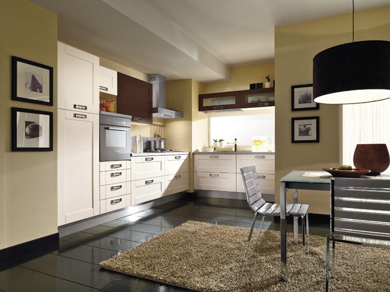 Cucina bianca moderna ad angolo Cucina componibile mod.california ...