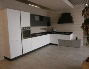 Cucina bianca moderna ad angolo Dallas  di Arrex in altri materiali