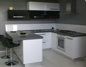 Cucina bianca moderna ad angolo Ginger Arrex