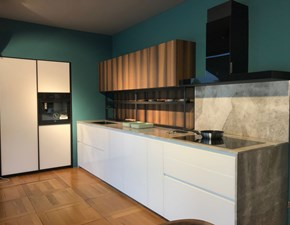 Cucina bianca moderna ad angolo Glass xp Zampieri cucine scontata