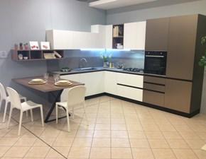Cucina bianca moderna ad angolo Kalì Arredo3