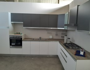 Cucina bianca moderna ad angolo Peonia Arrex