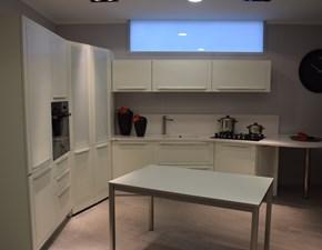 Cucina bianca moderna ad angolo Quadra Dibiesse
