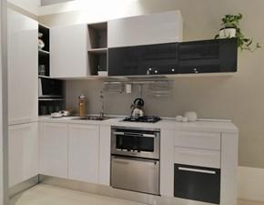 Cucina bianca moderna ad angolo Slim lucido e opaco Gicinque cucine in Offerta Outlet