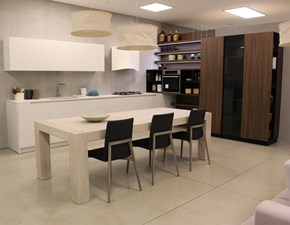 Cucina bianca moderna ad angolo Style Doimo cucine in Offerta Outlet