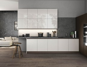 Cucina bianca moderna ad angolo Time Arredo3 in Offerta Outlet