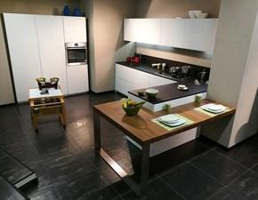 Cucina bianca moderna ad angolo Twenty Modulnova in Offerta Outlet