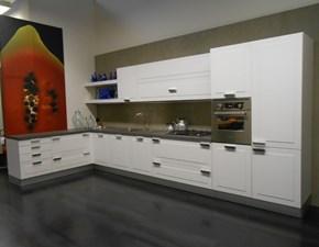 Cucina bianca moderna ad angolo Vela quadra Dada in offerta
