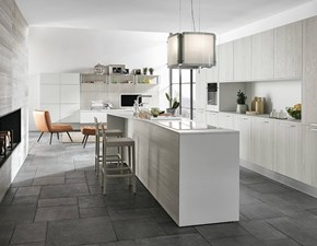 Cucina bianca moderna ad isola Componibile Colombini in Offerta Outlet