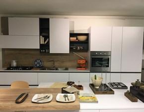 Cucina bianca moderna ad isola Joy Snaidero in Offerta Outlet