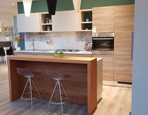 Cucina bianca moderna ad isola Motus Scavolini in Offerta Outlet