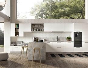 Cucina bianca moderna con penisola Astro Essebi cucine