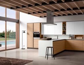 Cucina bianca moderna con penisola Corolla 5 Essebi cucine