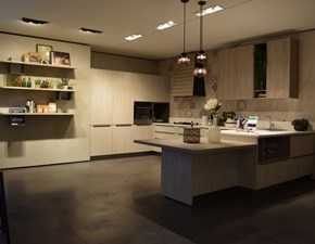 Cucina bianca moderna con penisola Infinity 2 Stosa cucine in Offerta Outlet