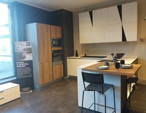 Cucina bianca moderna con penisola Infinity Stosa cucine