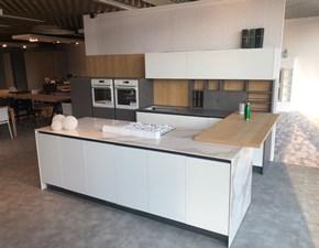 Cucina bianca moderna con penisola K105 Zecchinon in offerta