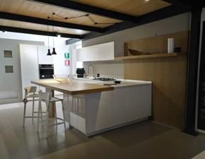 Cucina bianca moderna con penisola Maxima 2.2 Cesar cucine