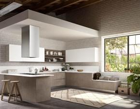 Cucina bianca moderna con penisola Stella Essebi cucine in Offerta Outlet