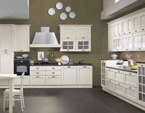 Cucina bianca moderna lineare Aisha Mobilturi