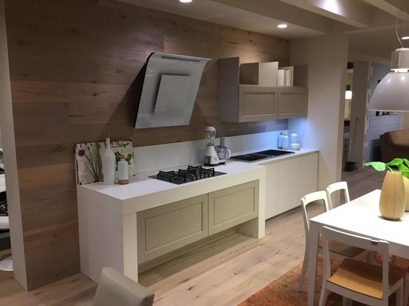 Cucina bianca moderna lineare alice sole arrex in offerta outlet - Cucina bianca moderna lineare ...