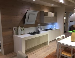 Cucina bianca moderna lineare Alice-sole Arrex in Offerta Outlet