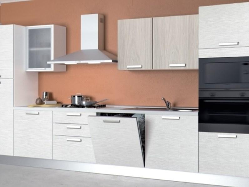 Cucina bianca moderna lineare alma di creo kitchens - Cucina bianca moderna lineare ...