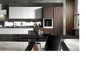 Cucina altri colori moderna lineare cappa modulnova in - Cucina bianca e noce ...