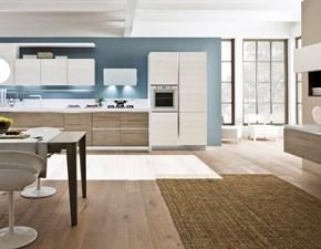 Cucina bianca moderna lineare Componibile Arrex in Offerta Outlet