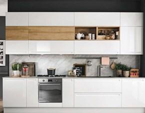 Cucina bianca moderna lineare Cucina laccata minimale  design in offerta    Nuovi mondi cucine