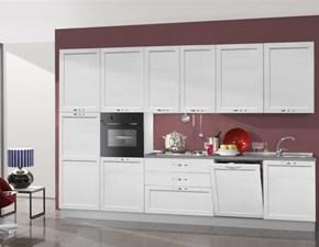 Cucina bianca moderna lineare Cucina mod.lady con telaio scontata del 30% Mobilturi cucine in Offerta Outlet