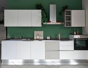 Cucina bianca moderna lineare Cucina spring laminato bianco  v. Dibiesse