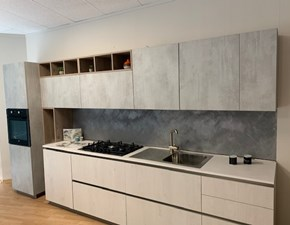 Cucina bianca moderna lineare Dbexpo Dibiesse in Offerta Outlet