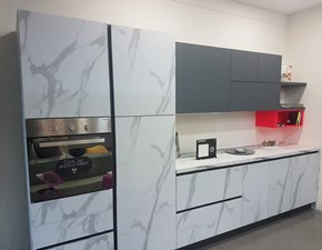 Cucina bianca moderna lineare De.sign stone G5 in offerta