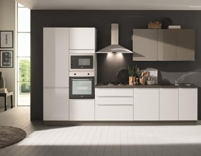 Cucina bianca moderna lineare  delizia  Mobilturi cucine in Offerta Outlet